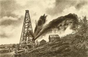 oil-well-with-a-side-flowing-gusher-everett